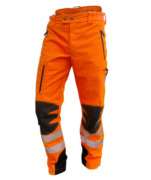 AX-MEN Ripstop Outdoorhose, EN20471, orange
