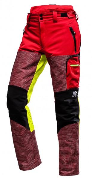 AX-MEN Defender PRO Schnittschutzhose rot/gelb