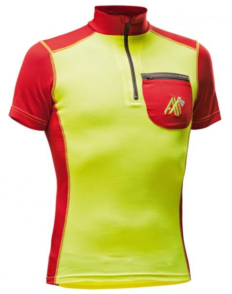 AX-MEN Funktionsshirt kurzarm gelb/rot