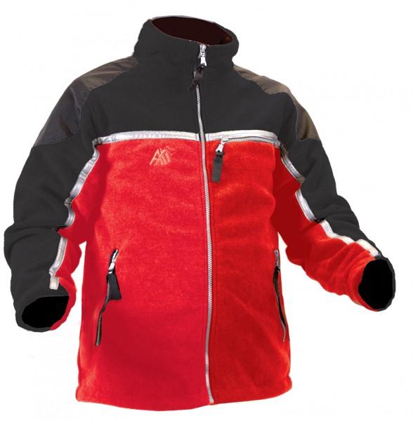 AX-MEN Fleecejacke rot/schwarz