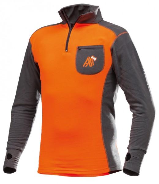 AX-MEN Funktionsshirt ISO orange/grau