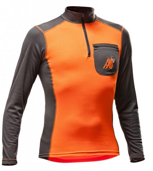 AX-MEN Funktionsshirt langarm orange/grau