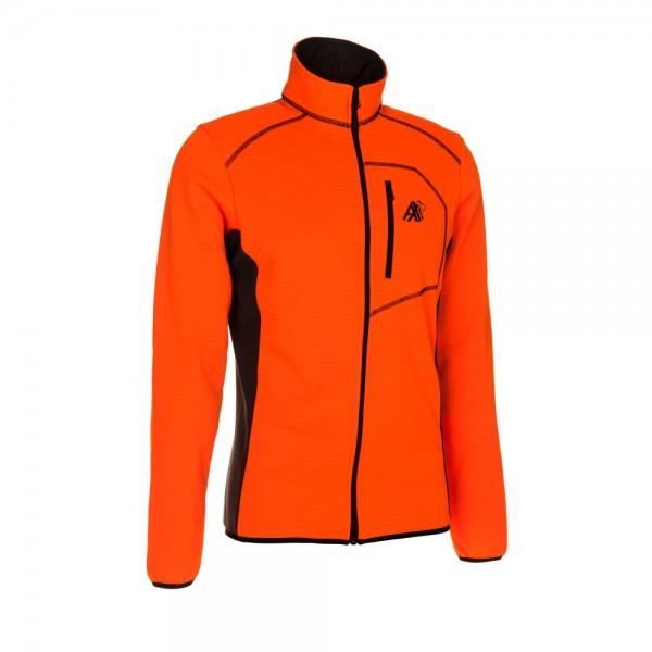 AX-MEN Funktionsshirt ISO-ZIP, orange/grau