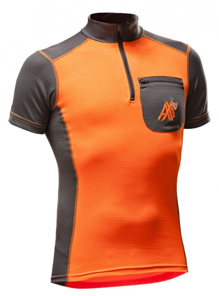 AX-MEN Funktionsshirt kurzarm orange/grau