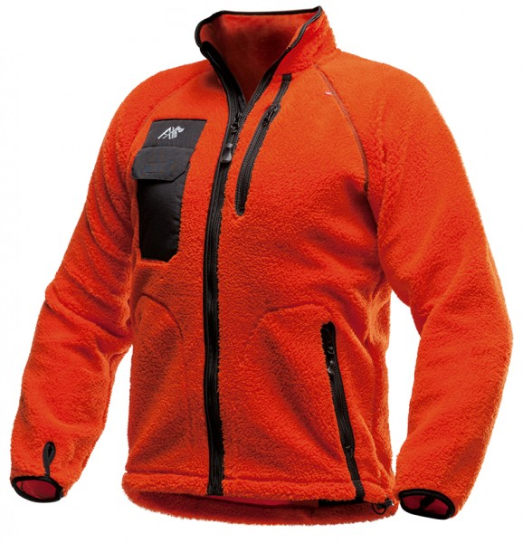 AX-MEN Faserpelzjacke, orange