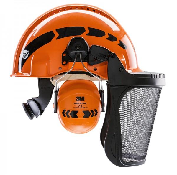 AX-MEN Reflax Kopfschutzkombination, orange
